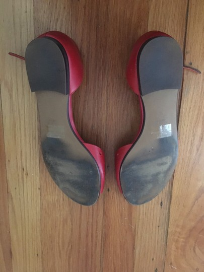 Madewell Flats Holepunch Anklestrap Siberian Red Sandals Image 3