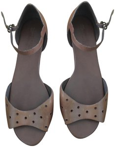 Madewell Holepunch Flats Ankle Strap Tan Sandals