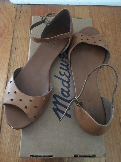 Madewell Holepunch Flats Ankle Strap Tan Sandals Image 1