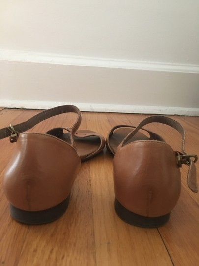 Madewell Holepunch Flats Ankle Strap Tan Sandals Image 2