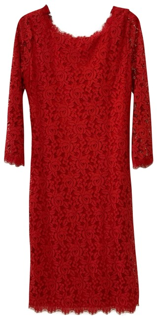 Item - Poppy Dvf Colleen Long Lace Sheath Dress/D840501l15x Mid-length Formal Dress Size 0 (XS)