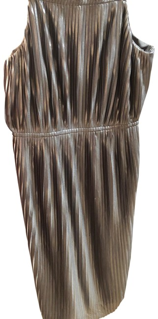 Item - Bronze Spaghetti Strap Mid-length Cocktail Dress Size 0 (XS)