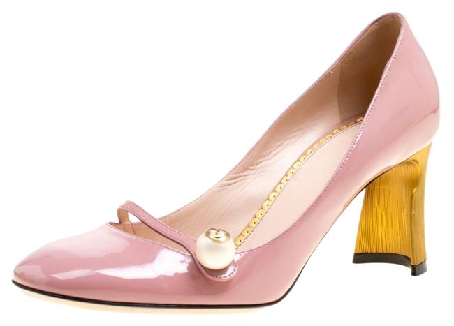 Item - Pink Patent Leather Pearl Detail Mary Jane Pumps Size EU 38.5 (Approx. US 8.5) Regular (M, B)