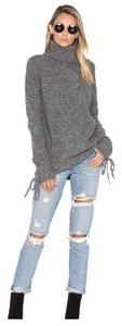 Lovers + Friends Tie Cuff Cowl Neck Relaxed Fit Sweater