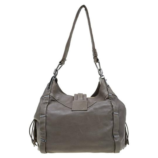 Céline Leather Satin Hobo Bag Image 1