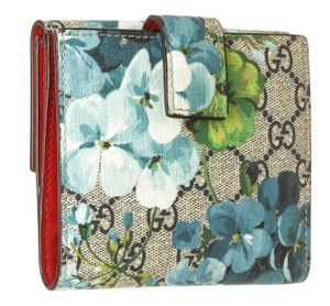 Gucci Gucci Multicolor Coated Canvas Leather Blooms Wallet