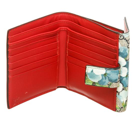 Gucci Gucci Multicolor Coated Canvas Leather Blooms Wallet Image 3
