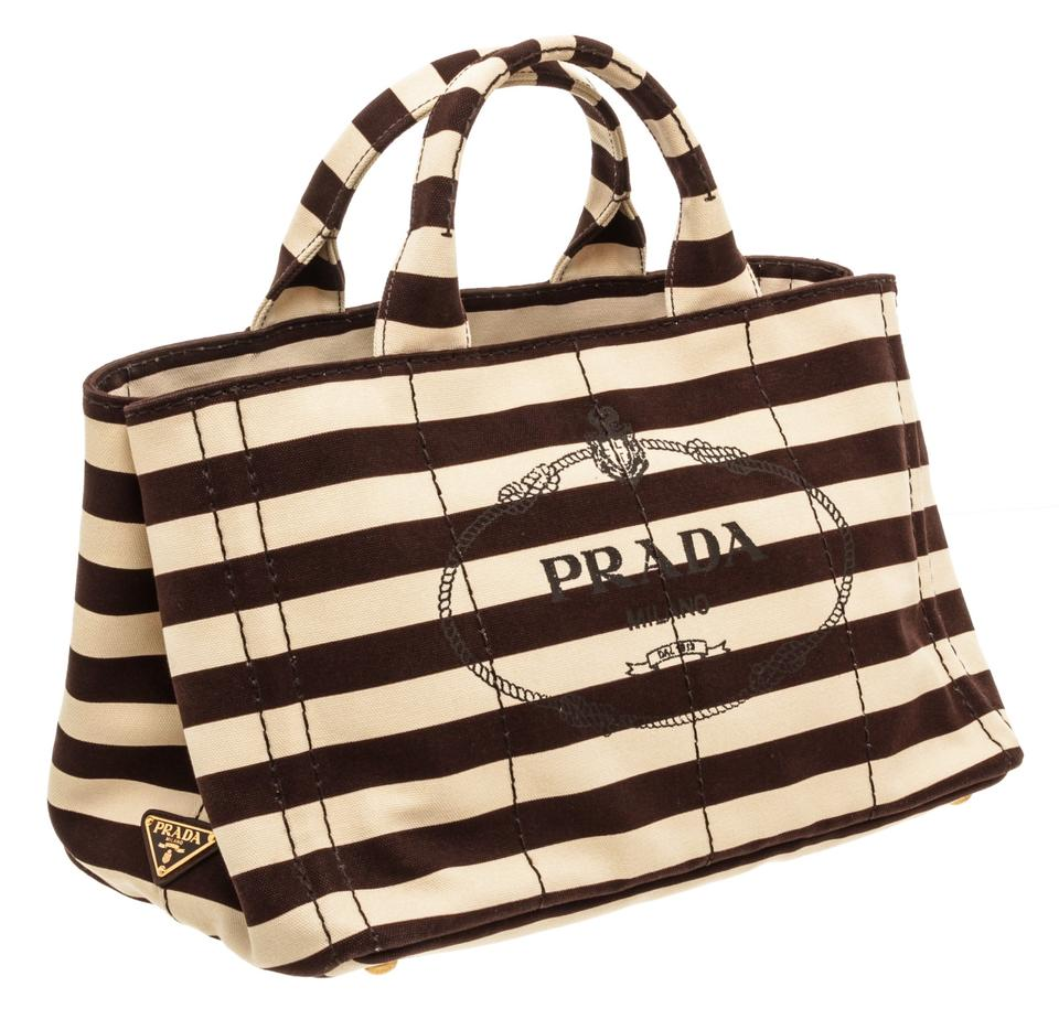 82902ad0855 Prada Shopping Canapa Medium Black White Canvas Tote - Tradesy