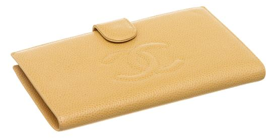 Chanel Chanel Beige Caviar Leather Timeless French Purse Wallet Image 2