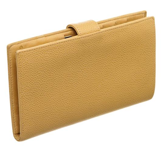 Chanel Chanel Beige Caviar Leather Timeless French Purse Wallet Image 3
