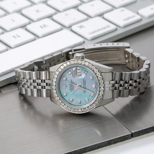 Rolex Rolex Oyster Perpetual Lady Date 69240 26MM Blue Diamond Dial Image 1