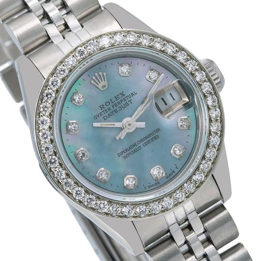 Rolex Rolex Oyster Perpetual Lady Date 69240 26MM Blue Diamond Dial Image 2