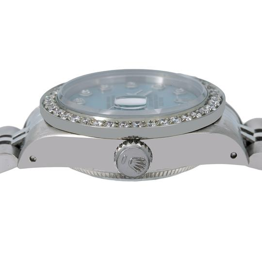 Rolex Rolex Oyster Perpetual Lady Date 69240 26MM Blue Diamond Dial Image 3