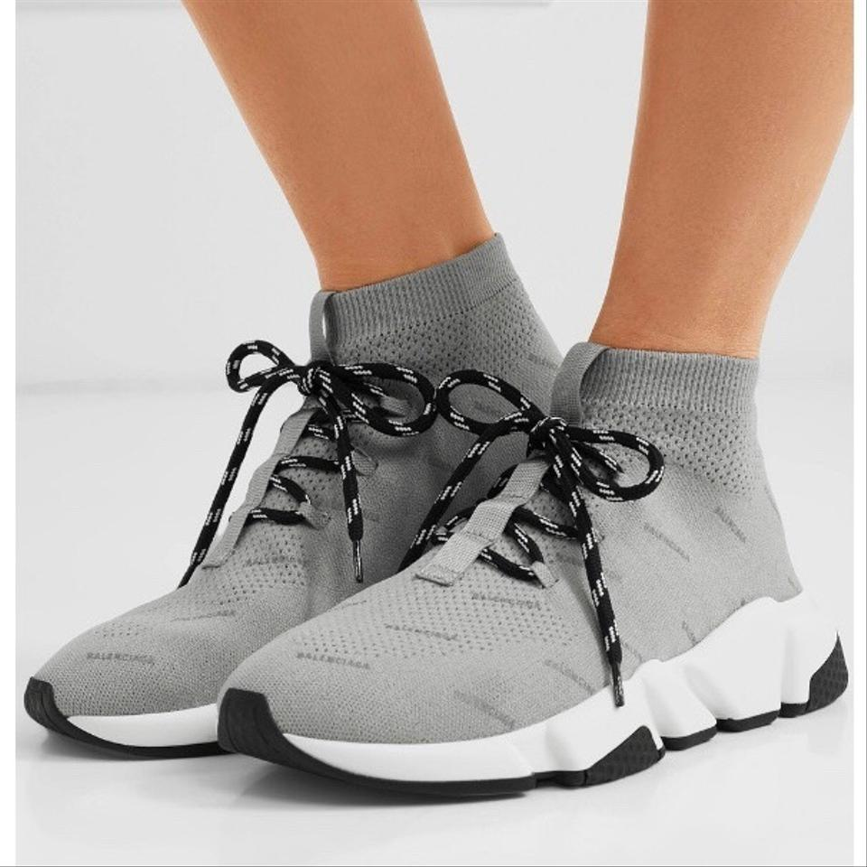 d9bd3ad8f274 Balenciaga Speed Trainer Lace Up Sock Sneakers Size EU 37 (Approx ...