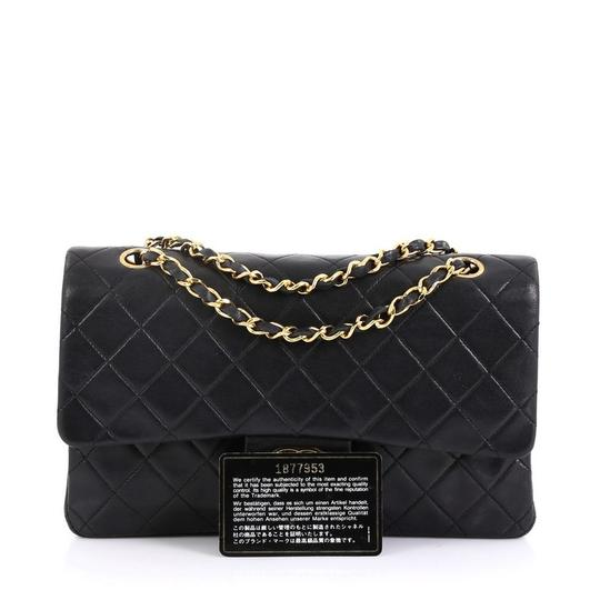 Chanel Vintage Double Flap Satchel in Black Image 1