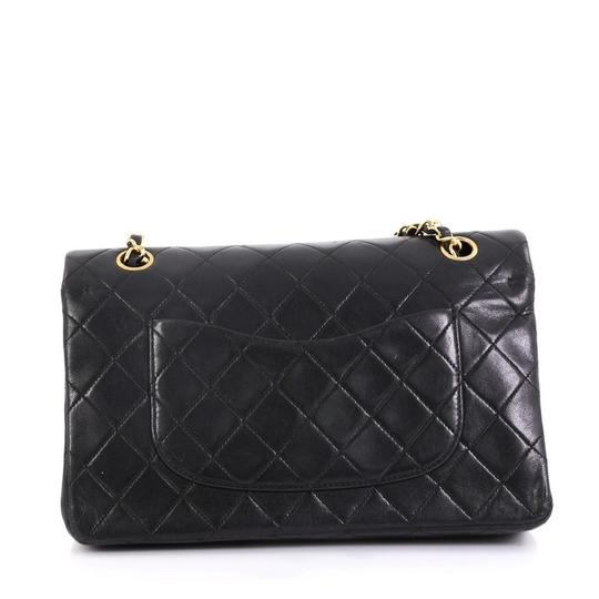 Chanel Vintage Double Flap Satchel in Black Image 3