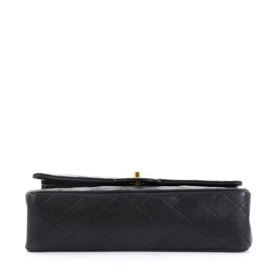 Chanel Vintage Double Flap Satchel in Black Image 4