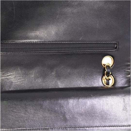 Chanel Vintage Double Flap Satchel in Black Image 6