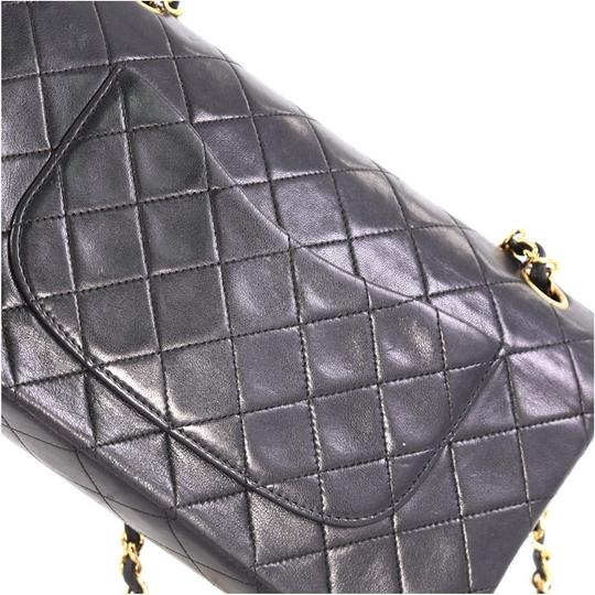 Chanel Vintage Double Flap Satchel in Black Image 7