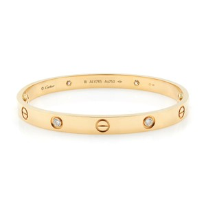 Cartier 4 Diamonds Cartier Love Bangle Size 18