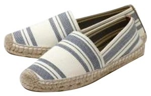 Tory Burch Navy and White Flats