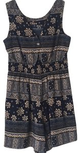 Kathie Lee Collection short dress dark blue with design throughout on Tradesy