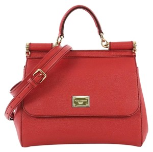 Dolce&Gabbana Dolce & Gabbana Miss Sicily Handbag Satchel in red