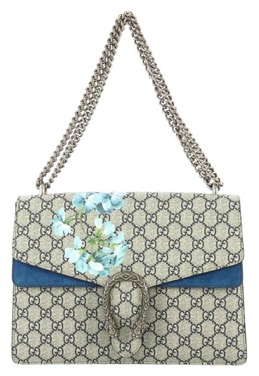 Gucci Dionysus Canvas Medium Tote in Blue Image 0