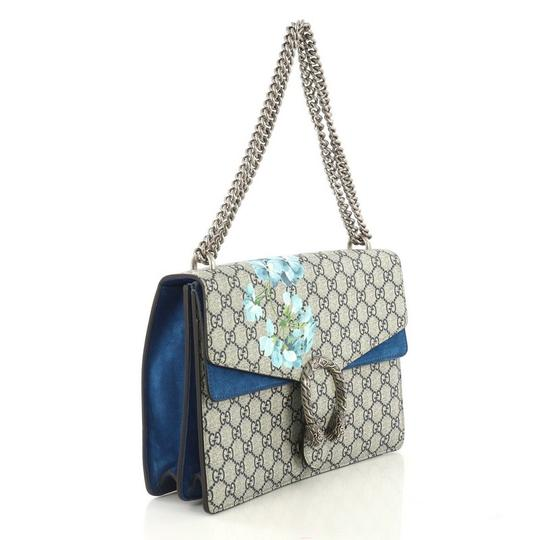 Gucci Dionysus Canvas Medium Tote in Blue Image 1