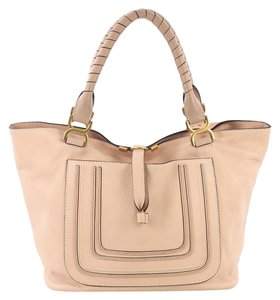 Chloé Marcie Leather Tote in Pink