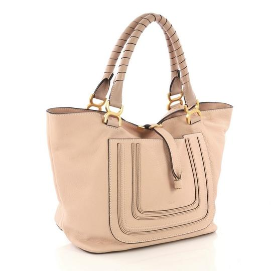 Chloé Marcie Leather Tote in Pink Image 1