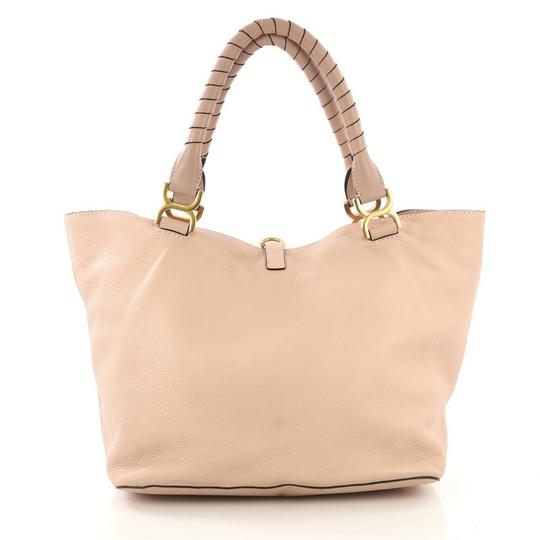 Chloé Marcie Leather Tote in Pink Image 2