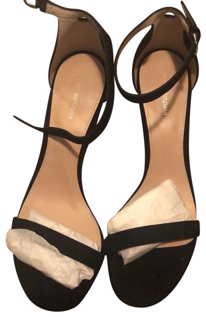Item - Black Suede Nearlynude Wedges Size US 10 Regular (M, B)