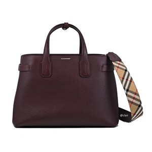 Burberry Satchel in Mahogany Red
