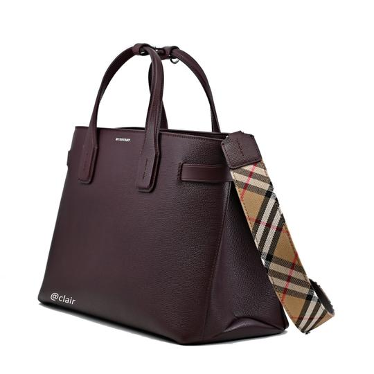 Burberry Satchel in Mahogany Red Image 1