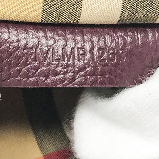 Burberry Satchel in Mahogany Red Image 10