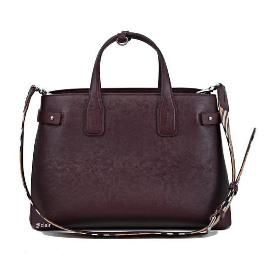Burberry Satchel in Mahogany Red Image 2