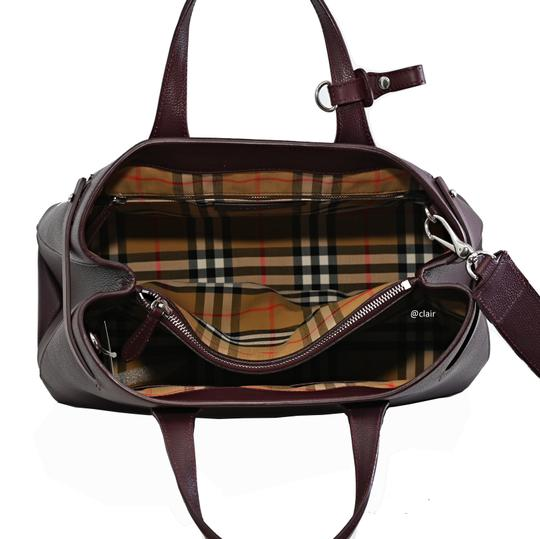 Burberry Satchel in Mahogany Red Image 4