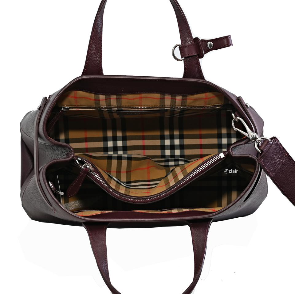 4223b755e Burberry Medium Banner Mahogany Red Leather and Vintage Check ...