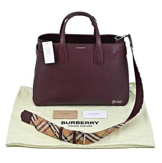 Burberry Satchel in Mahogany Red Image 5