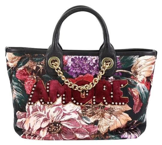 Preload https://img-static.tradesy.com/item/25514709/dolce-and-gabbana-shopping-amore-jacquard-medium-multicolor-leather-tote-0-1-540-540.jpg