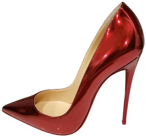 Christian Louboutin Stiletto So Kate Metal Patent Leather Loubi (red) Pumps