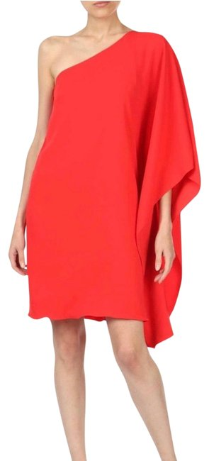 Item - Red Orange Valentines Day Mid-length Cocktail Dress Size 4 (S)
