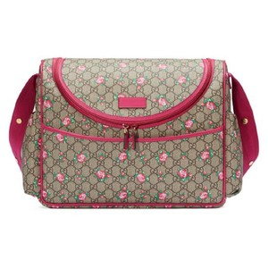 Gucci Womens Rose Trim Pink Diaper Bag