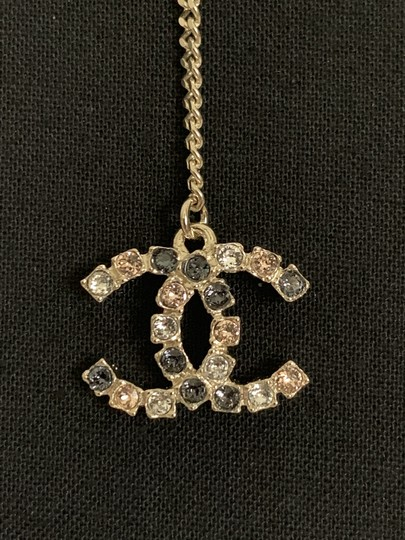 Chanel Chanel Large CC Logo Crystal Charm Gold Chain Drop Statement Earrings Image 9