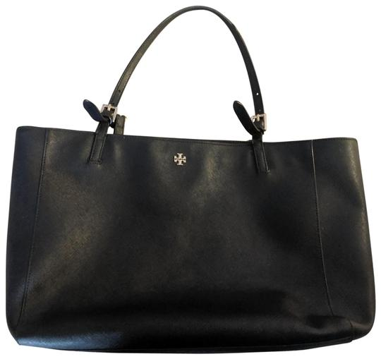 Preload https://img-static.tradesy.com/item/25514822/tory-burch-t-york-buckle-black-leather-tote-0-1-540-540.jpg