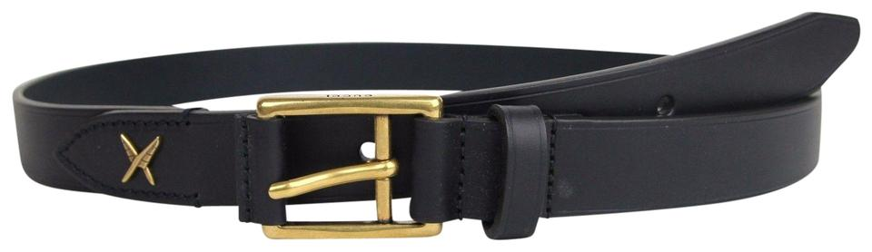 9f83a770f Gucci Blue New Leather Gold Buckle Feather 90/36 375182 4009 Belt ...