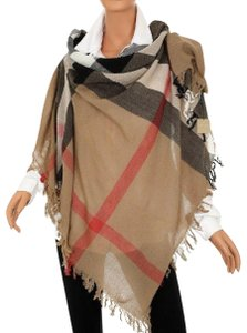 Burberry Burberry Women's Camel Signature House Check Wool Scarf 38414031