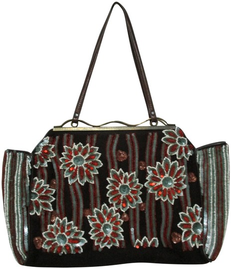 Preload https://img-static.tradesy.com/item/25514862/jamin-puech-tote-beaded-sequined-purse-brown-red-gray-champagne-velvet-and-leather-shoulder-bag-0-1-540-540.jpg
