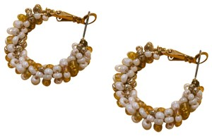 Free People Gold and White Beaded
